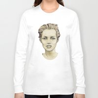 kate moss Long Sleeve T-shirts featuring Kate Moss by Matthäus Rojek