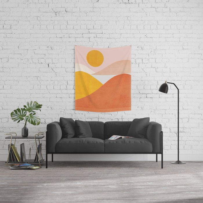 Abstraction_Mountains Wall Tapestry