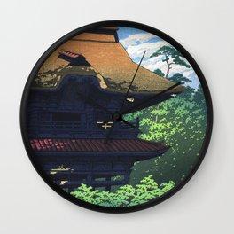 Kawase Hasui, Kencho-ji Temple, Kamakura - Vintage Japanese Woodblock Print Art Wall Clock