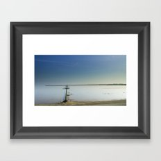 The salt marshes of Groningen Framed Art Print