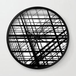 Black geometry Wall Clock