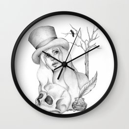 Mrs. Edgar Allan Poe Wall Clock