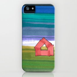 American Farm Landscape Blue Stripes 82 iPhone Case