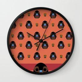 penguin rain Wall Clock