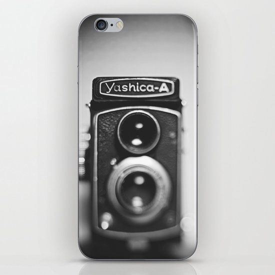 Yashica-A black and white iPhone & iPod Skin