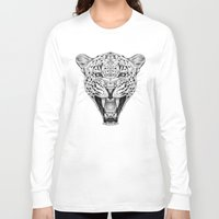 leopard Long Sleeve T-shirts featuring Leopard by Libby Watkins Illustration