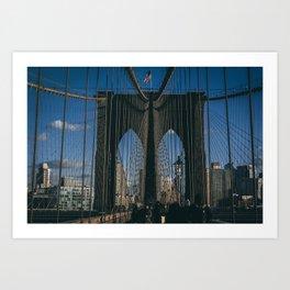 Classic Brooklyn Bridge Art Print