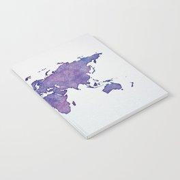 Purple World Map 02 Notebook