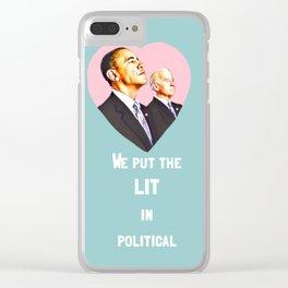 Obama + Biden Clear iPhone Case