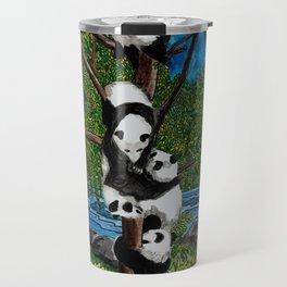 Six Baby Pandas in a Tree Travel Mug