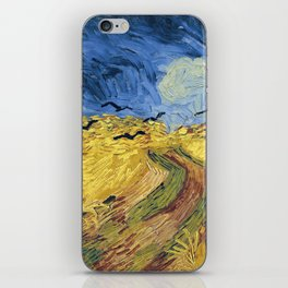 Wheatfield with Crows by Vincent van Gogh iPhone Skin