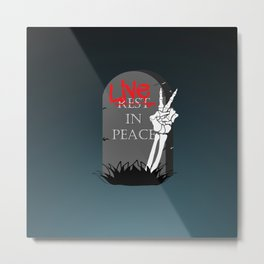 Live In Peace Metal Print