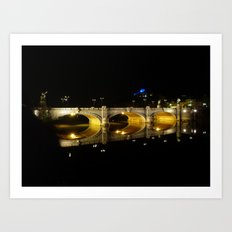 Water reflection Art Print
