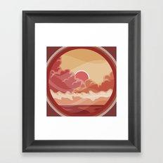 Heat Waves Framed Art Print