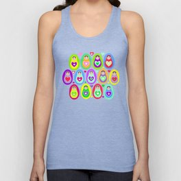 Russian dolls matryoshka, rainbow colors Unisex Tank Top