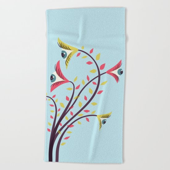 Eyes Are Watching You Beach Towel
