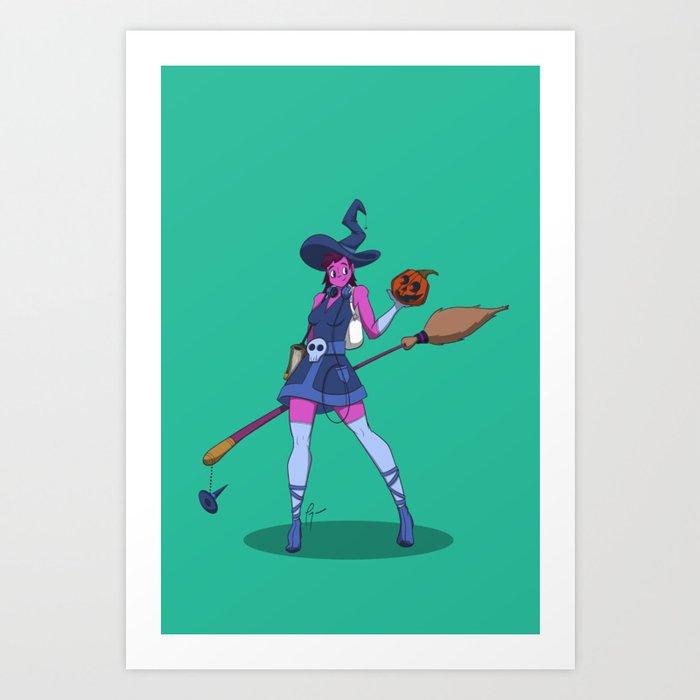Cute Witch Art Print