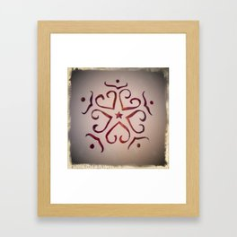Christmas snowflake Framed Art Print