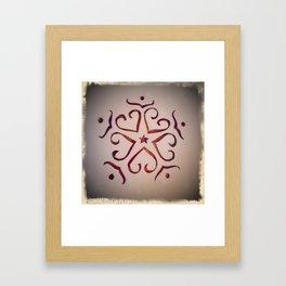 Christmas snowflake Framed Art Print