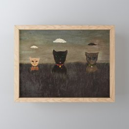 Three Bad Cats ( Tres Gatos Malos) by Gertrude Abercrombie Framed Mini Art Print