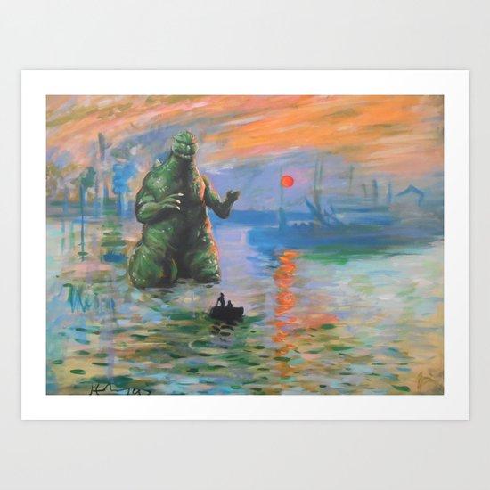 Impression Kaiju Art Print