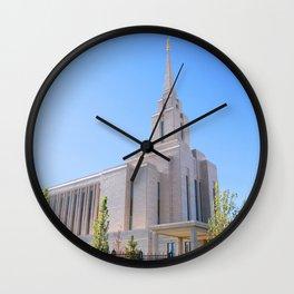 LDS Oquirrh Mountain Temple Wall Clock