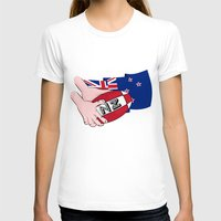 new zealand T-shirts featuring Rugby Ball New Zealand by mailboxdisco