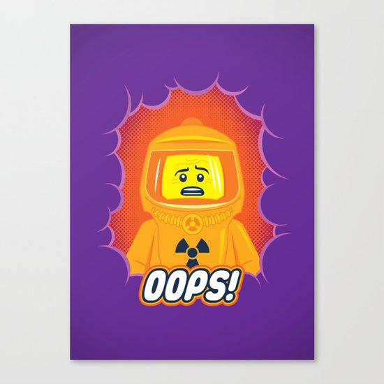 Oops! Canvas Print