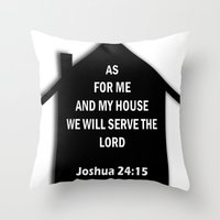 verse Throw Pillows featuring Bible verse by cmphotography