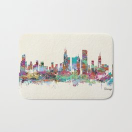 Chicago Illinois skyline Bath Mat