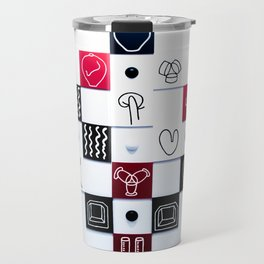 Art pattern in antwerp Travel Mug
