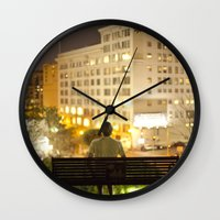 500 days of summer Wall Clocks featuring 500 Days of Summer by Kevin Clark