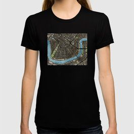 New Orleans City Map T-shirt