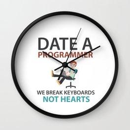 Date A Programmer Wall Clock
