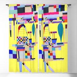 Wassily Kandinsky Yellow Painting Blackout Curtain