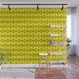 building brick blocks yellow Wall Mural