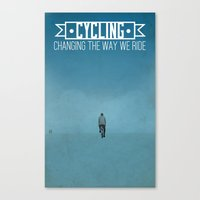 cycling Canvas Prints featuring Cycling by Carlos Hernandez