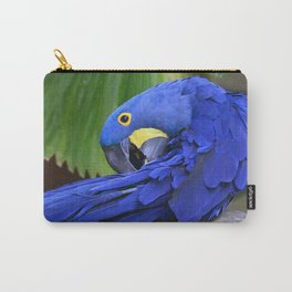 A Hyacinth Macaw Preening Its Feathers Carry-All Pouch