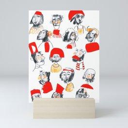 Collage Faces Mini Art Print
