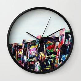 Cadillac Trash Graffiti Cars Wall Clock