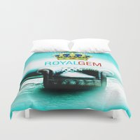gem Duvet Covers featuring Royal Gem by Azeez Olayinka Gloriousclick