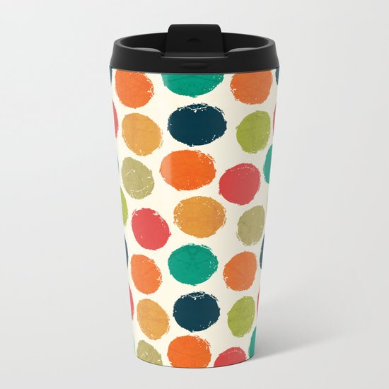 RETRO DOTS Metal Travel Mug