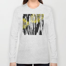 Abstract Palm Tree Leaves Design Long Sleeve T-shirt