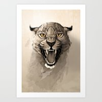 leopard Art Prints featuring Leopard by Rafapasta