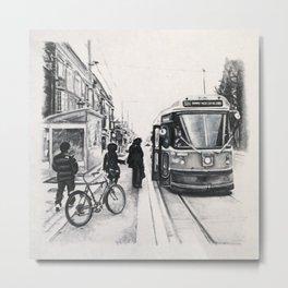 Roncesvalles Transit Platform Metal Print
