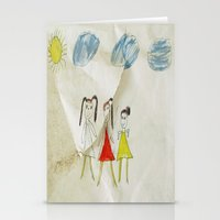 sisters Stationery Cards featuring Sisters?  by Ethna Gillespie