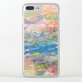 Summer Stream Clear iPhone Case