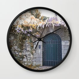 Italian garden wall Wall Clock
