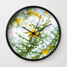 Palo Verde Flowers Wall Clock
