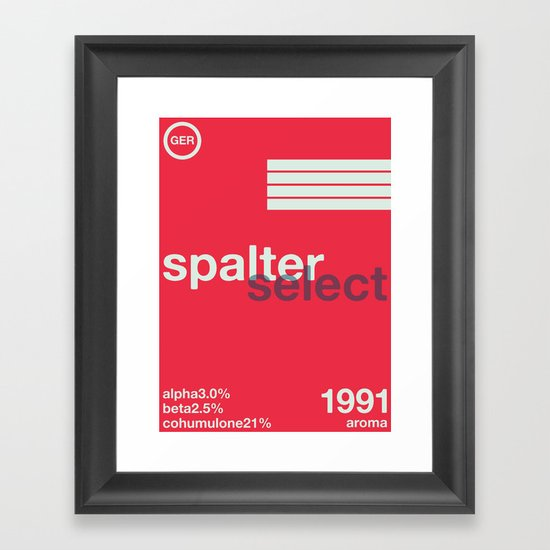 spalter select single hop Framed Art Print